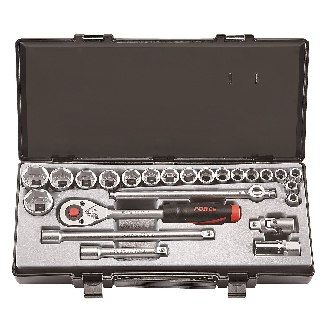 """AIR IMPACT WRENCH 17 PC 1//2/"""" DRIVE WITH 10 1//2 DR SOCKETS 1 EXTENSION BAR OILER"""