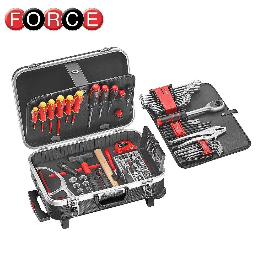 force 50234 107 werkzeugkoffer gef llt 107 tlg force. Black Bedroom Furniture Sets. Home Design Ideas