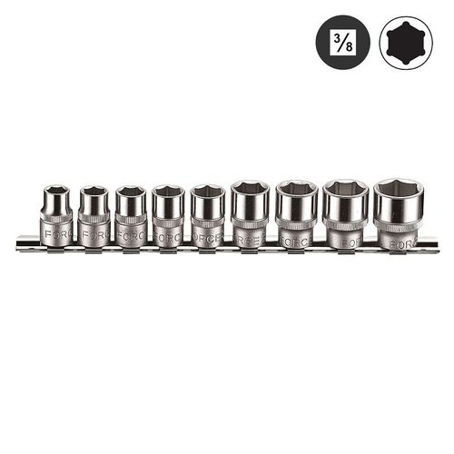 "Force 3093 3/8"" Doppenset 6-kant 9 delig"