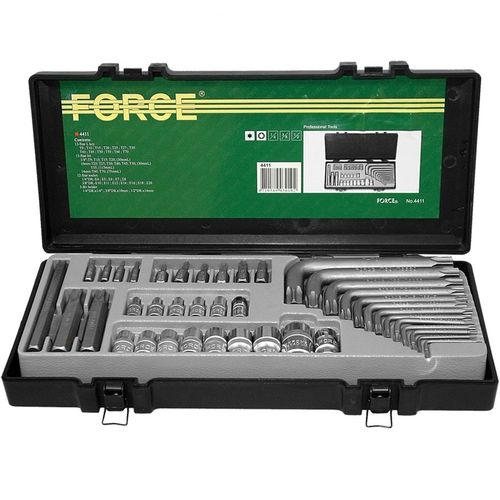 Force 4411 Bit set Torx 41 delig