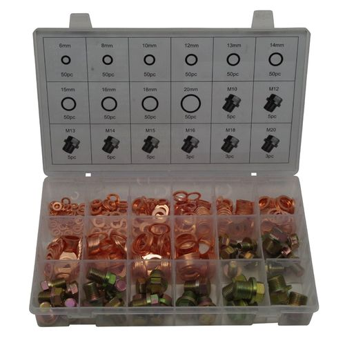FD-0071 Carterpluggen & koperring assortiment 534 delig