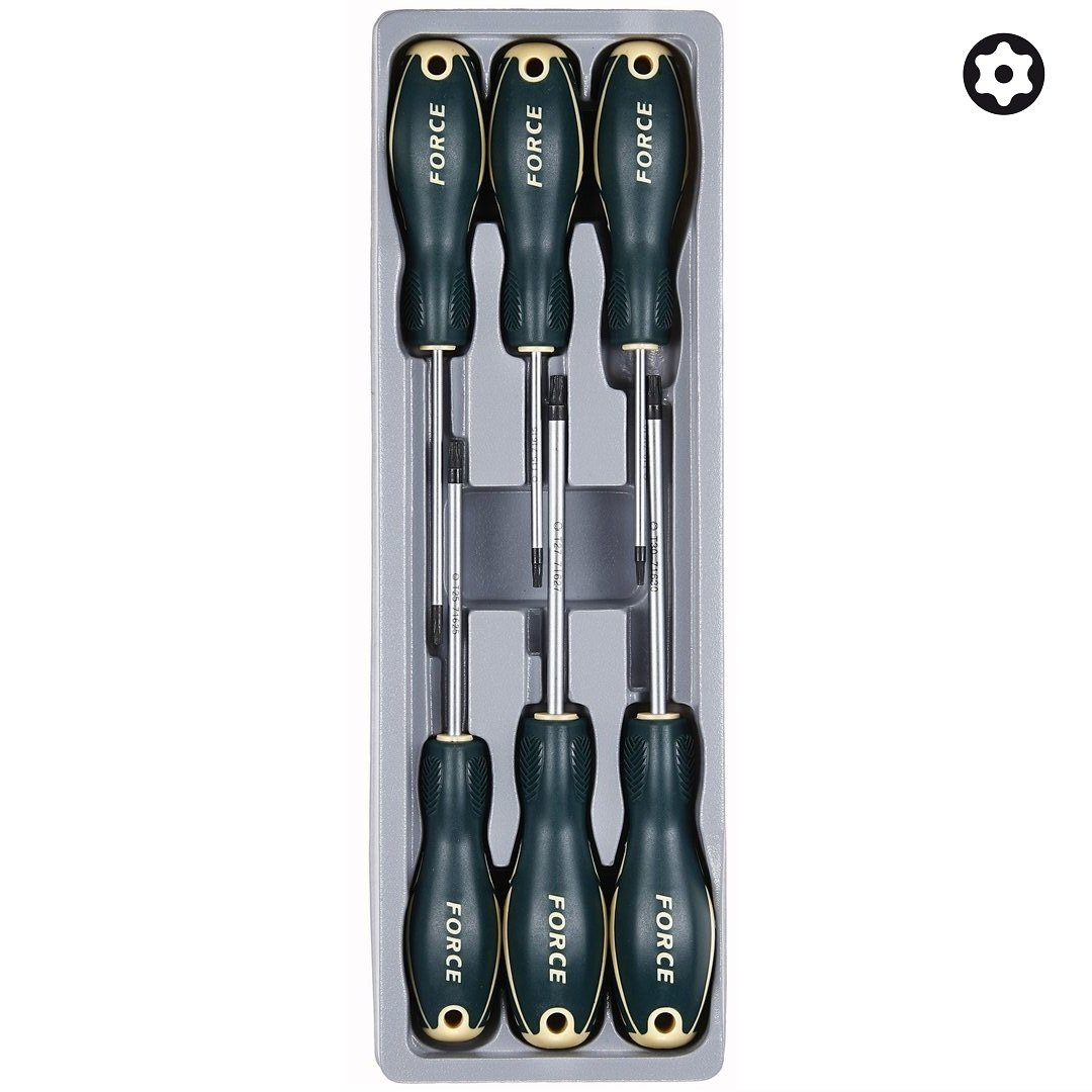 force 2061t module de 6 tournevis pour vis torx perc. Black Bedroom Furniture Sets. Home Design Ideas