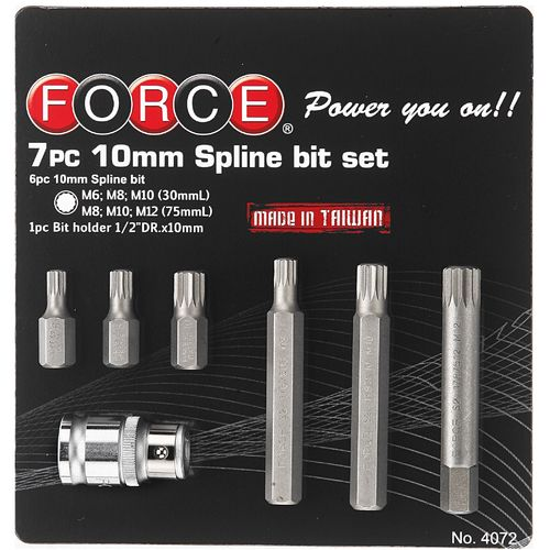 Force 4072 Bit set Spline 7 delig